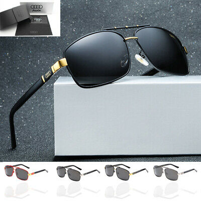 AUDI Polarized Sunglasses Driving Men's Lens Glasses UV400+BRAND BOX For Gift • 8.59£
