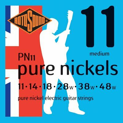 Rotosound PN11 Pure Nickels Electric Guitar Strings 11-48 UK Made!! • 7.50£