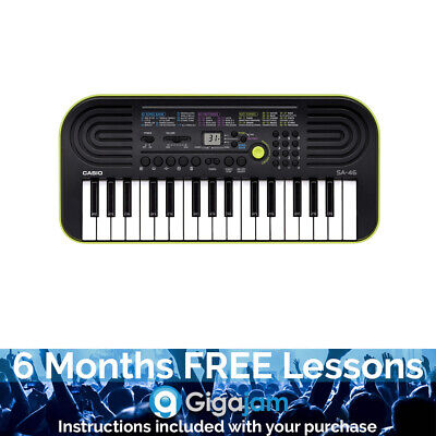Casio SA-46 32 Note Mini Key Keyboard - 6 Months Free Online Lessons • 58.87£