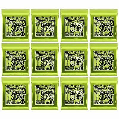 12 X Ernie Ball Regular Slinky Electric Guitar Strings P/n 2221. 12 X SETS • 65£