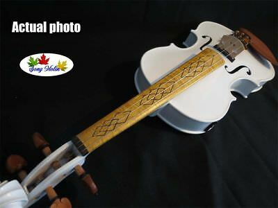 White Color 4/4 Electric Violin, Maple Fingerboard, With Case ,bow .rosin • 105.43£
