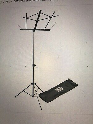 On-Stage SM7122BB Compact Sheet Music Stand (Black, With Bag) $ • 3.37£