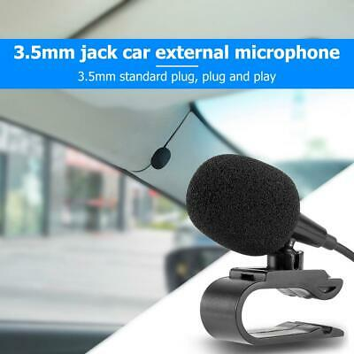 3.5mm Jack Car Microphone Stereo Plug Wired External Mic For PC Auto Radio Black • 3.33£