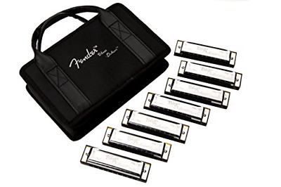 Fender Blues Deluxe Harmonica, 7-Pack With Case • 70.69£