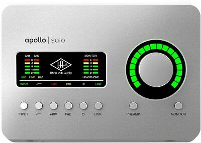 Universal Audio Apollo Solo USB Desktop 2x4 USB Audio Interface For Windows • 453.79£