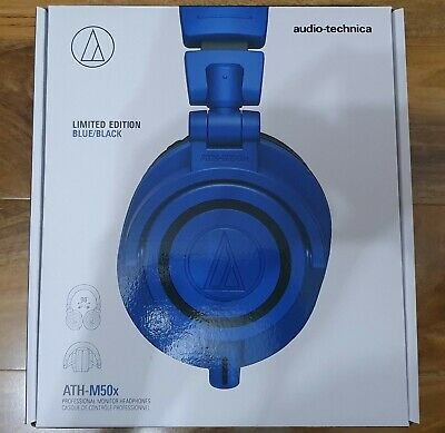 Audio-Technica ATH-M50x Wired Headphones - Blue - Special Edition • 140£