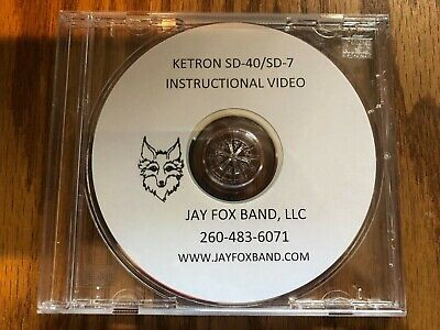 Ketron SD-40, SD-7, Instructional DVD W/rewriten Colorized Owners Manual • 25.33£
