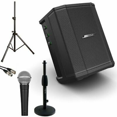 Small Portable Presenter Bundle Bose S1 Pro With Shure SM58 Mic With Desk Stand  • 598.58£