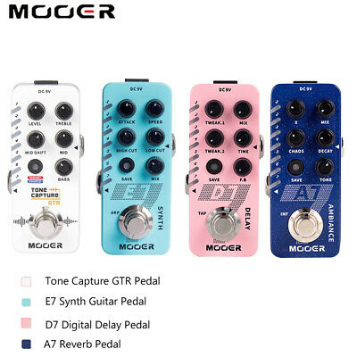 MOOER Guitar Bass Effect Pedal A7 AMBIENT REVERB / E7 Synth / Tone Capture GTR • 79.99£