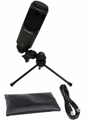 Audio Technica AT2020 USB Cardioid Condenser USB Podcast Microphone Mic W/Stand • 75.62£