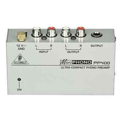 Behringer PP400 Ultra-Compact Microphono Phono Preamp - RCA Phono To Line/Mixer • 21.99£