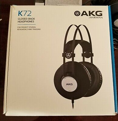 AKG K72 Closed-Back Studio Headphones 9.8 Ft Cable 40 Mm Drivers W/6.3mm Adapter • 32.56£