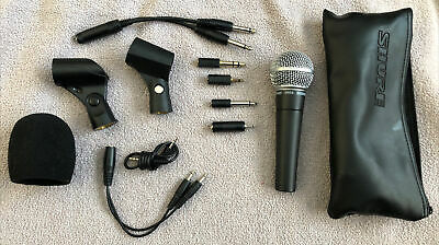 Shure SM58 Cardioid Dynamic Vocal Microphone With Brand Accessories • 72.35£