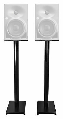 "Rockville 37"" Black Steel Studio Monitor Speaker Stands For Neumann KH 80 DSP • 53.14£"