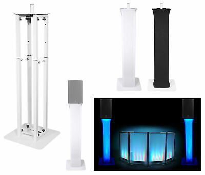 (1) Rockville White Adjustable Totem Speaker Stand For Mackie Thump15A