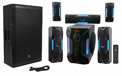 Mackie SRM650 1600 Watt 15  Powered Active PA Speaker+Free Home Theater System • 596.22£