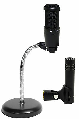 Audio Technica AT2041SP AT2020+AT2021 Studio Condenser Microphones+Mic Stand • 141.81£