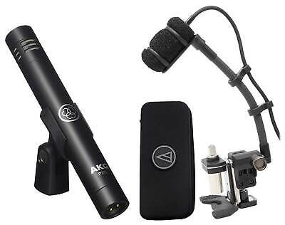 Audio Technica ATM350D Condenser Instrument Microphone+Gooseneck+AKG Pencil Mic • 277.79£