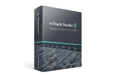 N-Track Studio 9 Extended Guitar Daw Record Mix Software Download • 106.11£