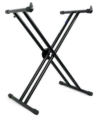 Rockville Double X Braced Keyboard Stand W Push Button Lock For Roland FA-07 • 28.91£
