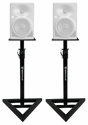 (2) Rockville Adjustable Studio Monitor Speaker Stands For Neumann KH 80 DSP • 42.50£