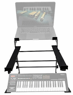 Rockville Dual Shelf Laptop+Controller Stand For Roland A-500 PRO Keyboard • 35.73£