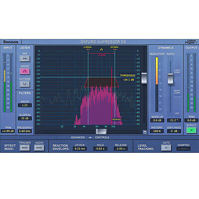 Sonnox Oxford SuprEsser DS - Native Linear Phase De-Esser Software Download • 186.26£