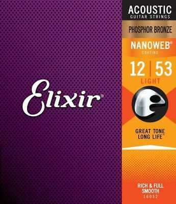 Elixir Phosphor Bronze NanoWeb Light • 18.99£