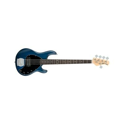 Sterling By Music Man Stingray Ray5 5 Blue Satin Chitarre Basso 4 Corde