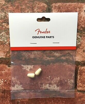 Fender USA Road Worn Aged White Pickup Selector Switch Tip X 2, For Relic Strat • 6.95£