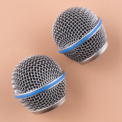 2Pcs Microphone Grille Grill Mic Ball Head Mesh Fit For Shure Beta58A SM58 Pgx24 • 5.73£