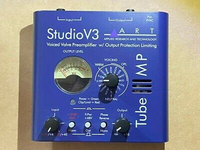 Tube MP Studio V3  Mic Preamp Art With AC Adapter Lightly Played