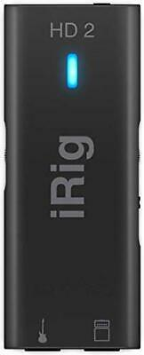 IK Multimedia iRig HD 2 - Interface for Guitar, 96 kHz with 24-bit A/D