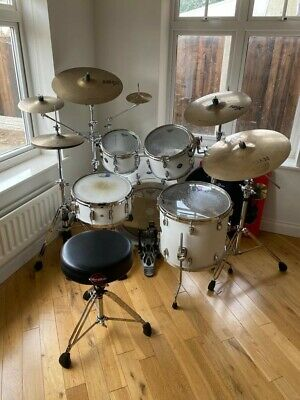 Gretsch Renown Matte White Drum Kit with Sabian & Istanbul Cymbals