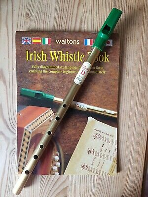 Waltons Penny Irish Tin Whistle In D Key and complete instruction book