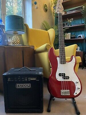 Squire Affinity Precision Bass + Fender Rubble 15 Amp