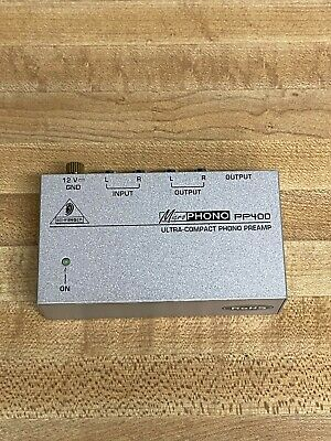 Behringer Microphono Phono Preamp PP400 W/ Power adapter