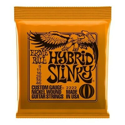 Ernie Ball 2222 Hybrid Slinky Nickel Wound Guitar Strings 09-46 • 7.70£