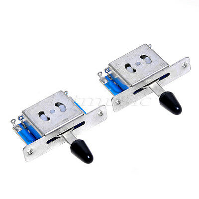 2pcs 5 WAY PICKUP SELECTOR SWITCH FOR FENDER Strat ST GUITAR • 4.82£