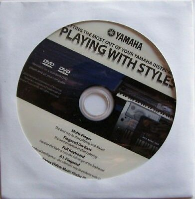 Yamaha Playing With Styles DVD, New! For Many YPG DGX PSR DJX Model Keyboards • 3.58£