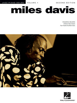 Miles Davis - 2nd Edition Jazz Piano Solos Series Volume 1 Piano  Book Only HL00 • 12.25£