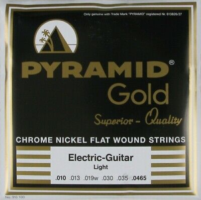 One Set Pyramid Gold Flatwound 6 String Guitar 10-46 Flat Wound Pack Strings