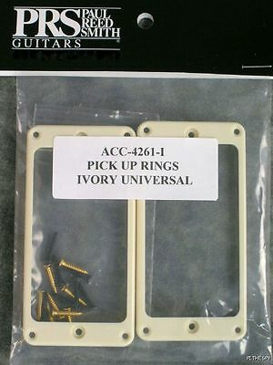 PRS Ivory Guitar Pickup Rings Universal Stoptail Tremolo Paul Reed Smith SE