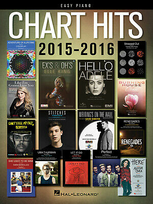 Chart Hits Of 2015-2016 Easy Piano Songbook Easy Piano  Book Only HL00156299 • 13.75£