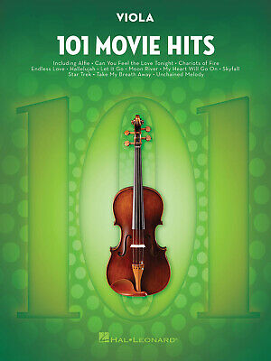 101 Movie Hits For Viola  Viola  Book Only HL00158095 • 11.75£