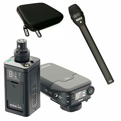 Rode RODELink Newsshooter Kit Digital Wireless System W/Rode Reporter Microphone • 476.34£