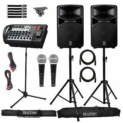 Yamaha STAGEPAS 600BT Portable PA DJ Speaker System W Mixer Adapter & Microphon • 736.74£