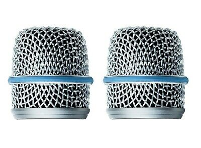 2 Pack Microphone Ball Head Mesh Grill For Shure Beta57a Microphone With Foam • 8.99£