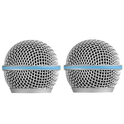 2 Pack RK265G Microphone Grille For Shure BETA 58A, BETA 58M BETA 58MR Wireless • 7.90£