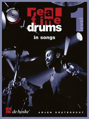 Real Time Drums in Songs (D)  Drum Kit Arjen Oosterhout Book with CD DHP 0981332